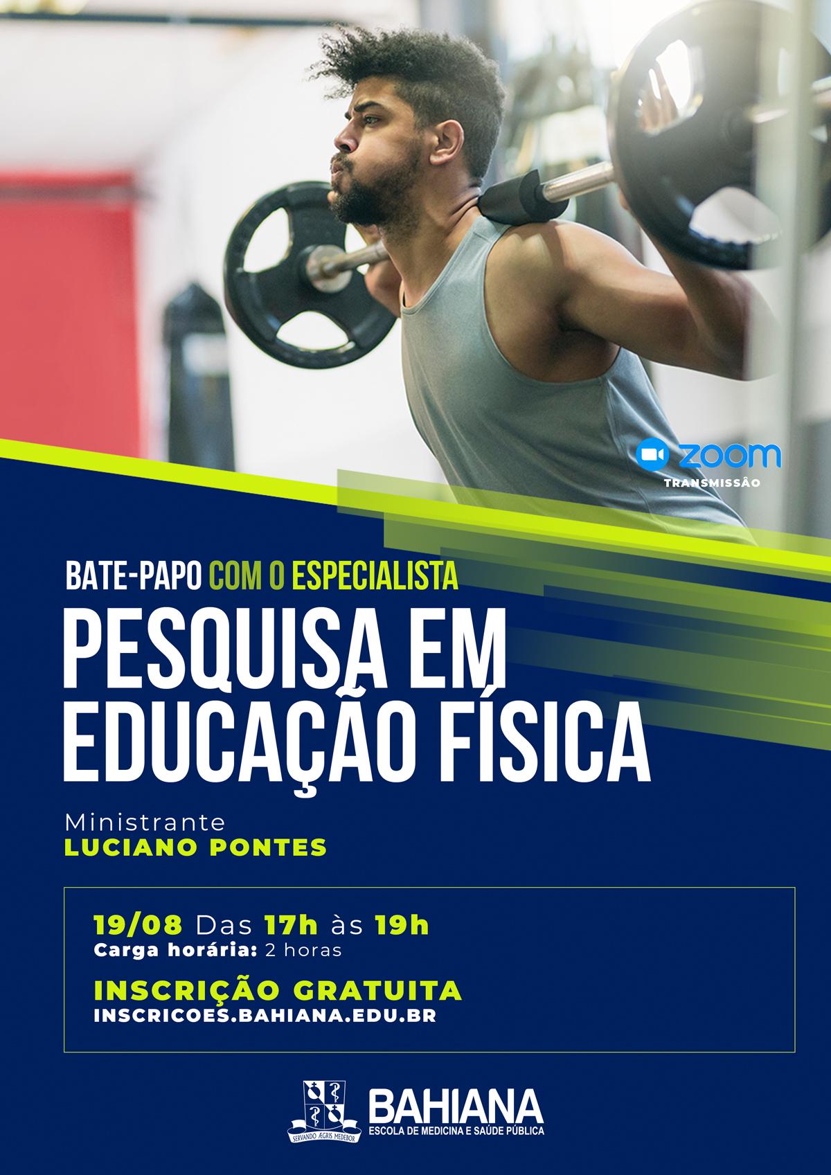 Bahiana Cartaz 04 Batepapo Pesquisa Em Educação Física1908